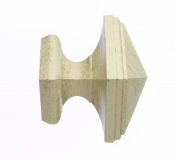 Distressed Cream Square finial